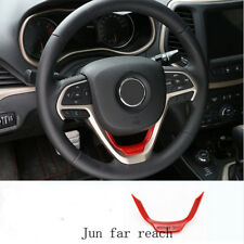 Car Interior Accessories Red Steering Wheel Trim For Jeep Grand Cherokee 2014 up