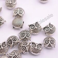 Wholesale Antique Tibetan Silver Owl Charm Spacer Beads for Bracelet