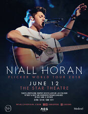 "NIALL HORAN ""FLICKER WORLD TOUR 2018 v.1"" SINGAPORE CONCERT POSTER-One Direction"