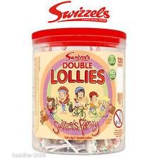 SWIZZELS FAMILY TUB WEDDING CART DOUBLE LOLLY POPS LOLLIES 120 LOLLIPOPS CANDY