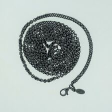 """Authentic PANDORA Oxidized Sterling Silver Chain Necklace 39.4"""" - 590402-100"""