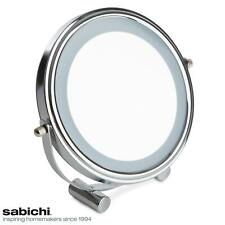 Sabichi LED Make-Up Cosmetic Mirror Bathroom Round with Adjustable Angle, Chrome