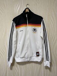 GERMANY DEUTSCHLAND FOOTBALL SOCCER TRACK TOP JACKET RETRO ADIDAS 310157 sz M