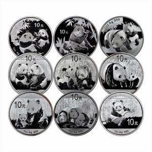 1oz .999 Silver Chinese Panda -Assorted Dates-