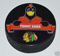 Chicago Blackhawks Mascot Tommy Hawk Team Logo SOUVENIR NHL HOCKEY PUCK NEW