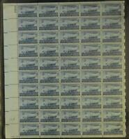 US SCOTT 958 PANE OF 50 SWEDISH PIONEERS STAMPS 5 CENT FACE MNH