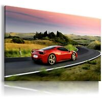 FERRARI ITALIA RED Super Sport Cars Large Wall Canvas Picture ART AU316 MATAGA