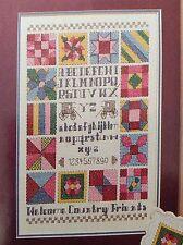 Country Friends counted cross stitch magazine pattern, fabric & floss lot