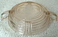 Vintage 1930s ANCHOR HOCKING Manhattan Pink Depression Glass Candy Dish Handles