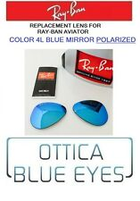 LENTI di Ricambio RAYBAN AVIATOR 3025 Ray Ban Replacement Lenses 4L BLUE POLAR