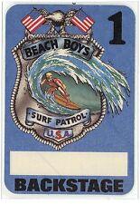 Beach Boys 1984 Concert Tour Laminate Backstage Pass! Original stage Fasson