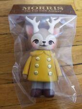 Kaori Hinata Morris The Cat With Antlers Noble Yellow Coat Sofubi 1000Toys RARE
