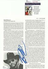 HANK WILLIAMS JR Signed Autograph Magazine Page JSA COA Country Music