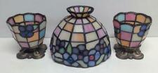 Party Lite Tiffany Style Stained Glass Candle Holders & Lamp Shade