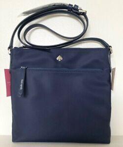 New Kate Spade Jae Flat crossbody handbag Nylon Nightcap