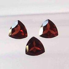 6X6 MM Trillion Cut Natural Mozambique Red Garnet Faceted Gemstone 3 Pieces Set
