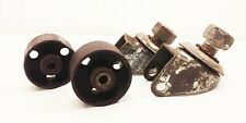 "Vtg antique cast iron 2 5/16"" swivel caster wheels industrial factory farm cart"