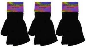 1 Pair Unisex Children Kids Boys Girls Magic Stretch Fingerless Gloves One Size