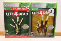 Left 4 Dead 1 & 2 - Xbox 360 - New/Sealed - Plays on Xbox One - Free Shiping!