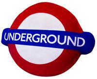 Licensed London Tube Underground™ Logo Plush Cushion (HRD-LOG)