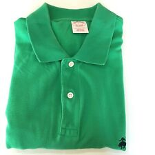 Brooks Brothers Performance Polo Shirt Men's Large Original Fit 100 Cotton Green