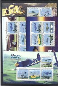 ISLE OF MAN 2008,ROYAL AIR FORCE SET OF 4 BOOKLET PANES UNMOUNTED MINT, MNH