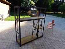 Etagére penderie style industriel fabrication sur mesure bois mètal