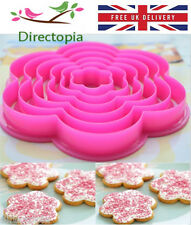 6 Flower Shaped Cookie Icing Fondant Cake Decorating Cutter Set Kitchen Tool