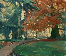 Peinture de Paul BÉAT (1874-1945). Le hêtre en automne (Normandie)