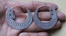 Unique Karen Hilltribe Earrings Pure Silver Thailand