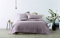 Sheridan Abbotson Belgian Linen Bed Cover Winter Berry