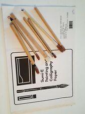7 Pcs Chinese Calligraphy Brush Japanese Sumi-e Drawing/Painting Brush & paper