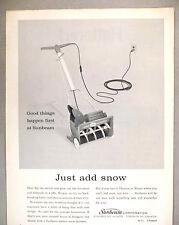 Sunbeam Electric Snow Blower PRINT AD - 1962
