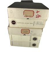 5 Kodak Carousel Transvue 80 Slide Photo Tray 35mm Original Box Vintage Tested