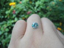 0.99 Carat 6.50MM VVS1 Greenish Blue MOISSANITE Sub to DIAMOND for RING