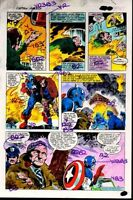 Original 1981 Captain America Annual 5 Marvel Comics color guide art page: Colan