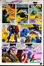 Gene Colan 1981 Captain America Annual 5 page 47 Marvel Comics color guide art