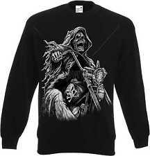 Sweatshirt in schwarz Gothik Biker-,Chopper-&Old Schoolmotiv Modell Grim Reaper