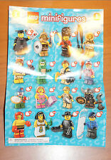 LEGO 8827 MINIFIGURE Series 5 INSTRUCTION CHECKLIST Mini-Insert Poster Only
