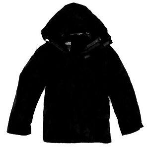 LADIES WATERPROOF WINDPROOF JACKET plain black hooded coat outdoor hiking XS-3XL