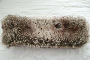 Genuine Barts Ladies Faux Fur Headband Ear Warmer One Size Fleece Lined