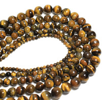 For Bracelet Jewelry DIY Wholesale Natural Stone Tiger Eye Loose Beads 6 8 10mm