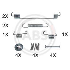 Zubehörsatz Bremsbacken - A.B.S. 0014Q