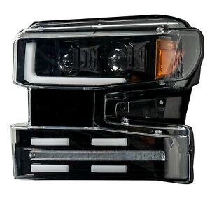 Chevy Silverado 19-20 1500 Recon Projector Headlights DRL OLD Halos Smoked/Black