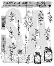 Tim Holtz Cling Rubber Stamps 2017 Flower Jar CMS297 Stampers Anonymous