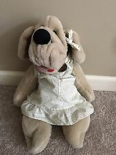 Wrinkles GIRL puppy dog plush doll puppet Ganz 1981 Vintage With Tag