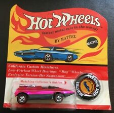 1969 HOT WHEELS RED LINE PEEPING BOMB HOT PINK SEALED ON UNPUNCHED BLISTER CARD
