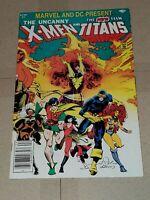X-MEN & NEW TEEN TITANS (1982) SIGNED CHRIS CLAREMONT NEWSSTAND LOOSE CENTERFOLD