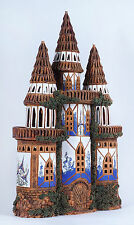 Ceramic house tea light holder 'Castle from Fantasy collection', 42 cm, © Midene