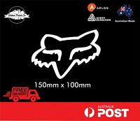 FOX RACING MOTOCROSS High Quality Sticker Decal Weatherproof Vinyl 150x100mm